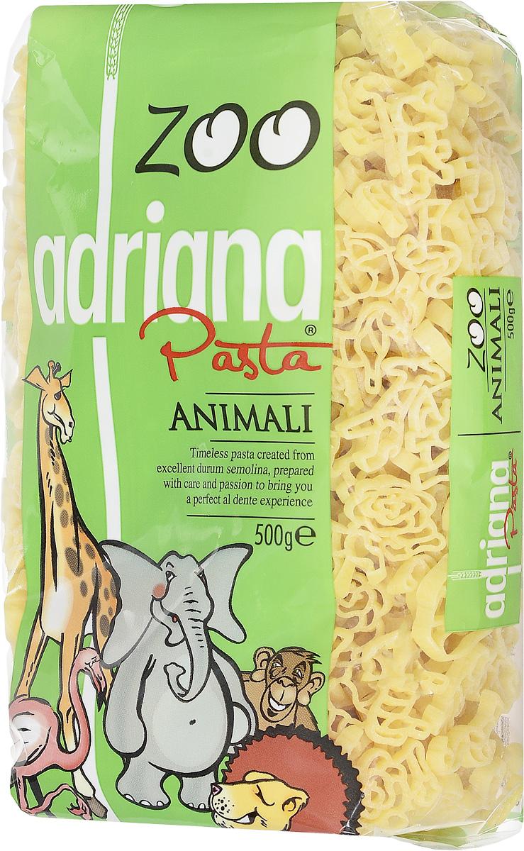 Adriana Animali паста, 500 г15024Все дети любят макароны по одной простой причине - их можно не только кушать, но и играться с ними, со свистом втягивая в себя, накручивая на вилку, строя в тарелке пирамиды. Компания Adriana учла это и разработала специальную серию пасты для малышей Zoo.Известно, что любое блюдо приносит большую пользу организму, если пища принимается с хорошим настроением. Особенно это касается детей, которым важно, чтобы еда, прежде всего, была привлекательна внешне. Поэтому, готовя детям даже обычные макароны, можно проявлять творчество и фантазию в оформлении блюд, и дети будут кушать с удовольствием! Многие родители пользуются этим, с радостью включая в рацион детей этот питательный продукт.Детские макароны произведены из муки твердых сортов пшеницы и воды, не содержат искусственных составляющих. Эти небольшие макароны оригинальной формы в яркой упаковке не оставят равнодушными ни малышей, ни их мам. Благодаря высокому содержанию растительного белка, витаминов группы В и витамина F они являются важной частью полноценного детского рациона и идеальным источником энергии для вашего малыша. Три в одном - накормиться, развлечься, научиться!