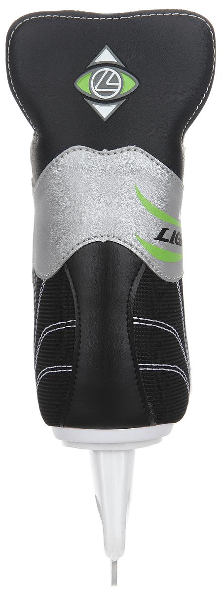 Коньки хоккейные мужские Larsen Light, цвет: черный, серебристый, белый. Размер 39