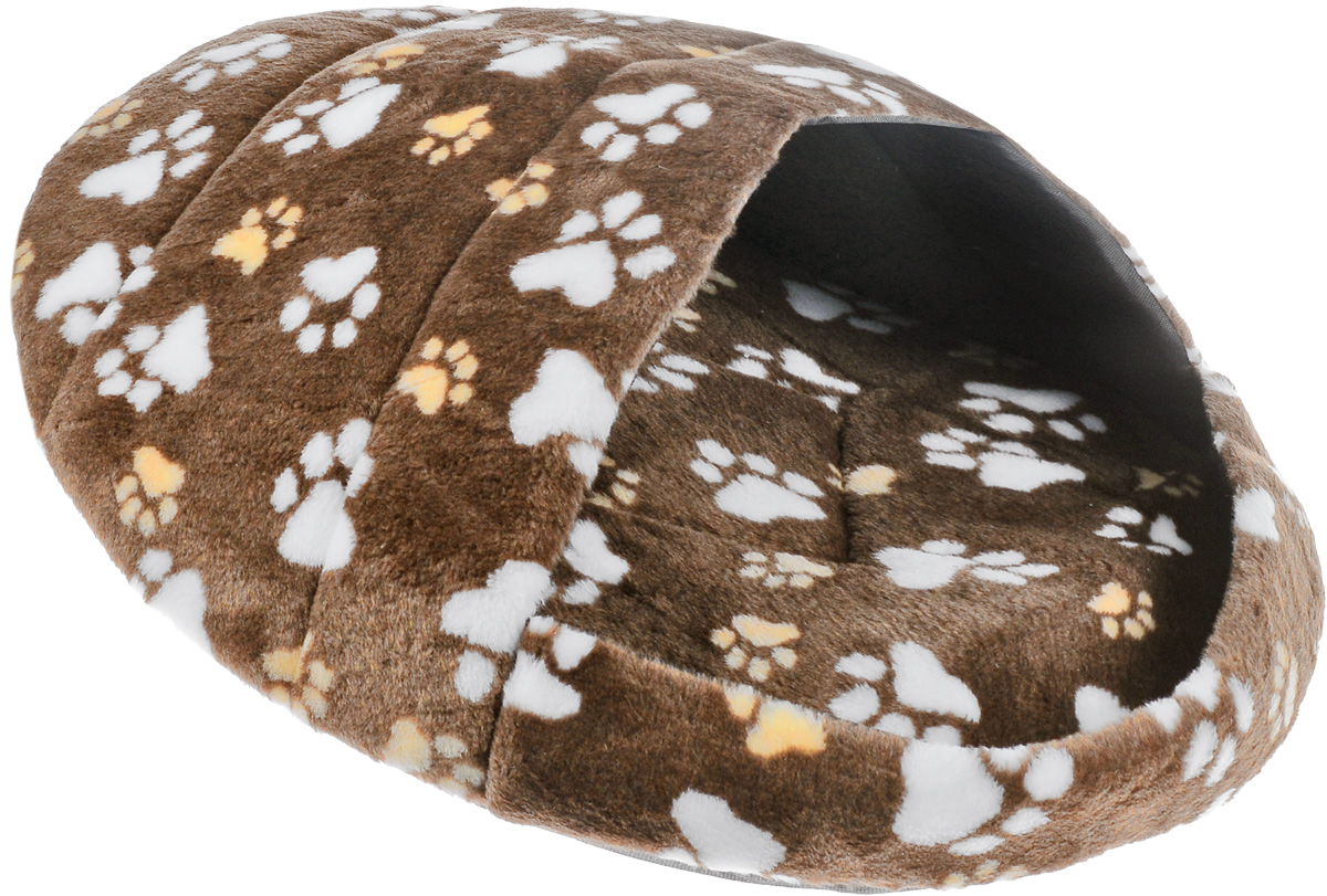 Лежак для животных Elite Valley Тапок, цвет: коричневый, бежевый, белый, 66 х 53 х 30 смЛ-29/4_коричневый, бежевый, белыйЛежак Elite Valley Тапок непременно станет любимым местом отдыха вашего домашнего животного. Изделие выполнено из искусственного меха, текстиля и нетканого материала, а наполнитель - из поролона. Такой материал не теряет своей формы долгое время. Внутри имеется мягкая съемная подстилка.На таком лежаке вашему любимцу будет мягко и тепло. Он подарит вашему питомцу ощущение уюта и уединенности, а также возможность спрятаться.
