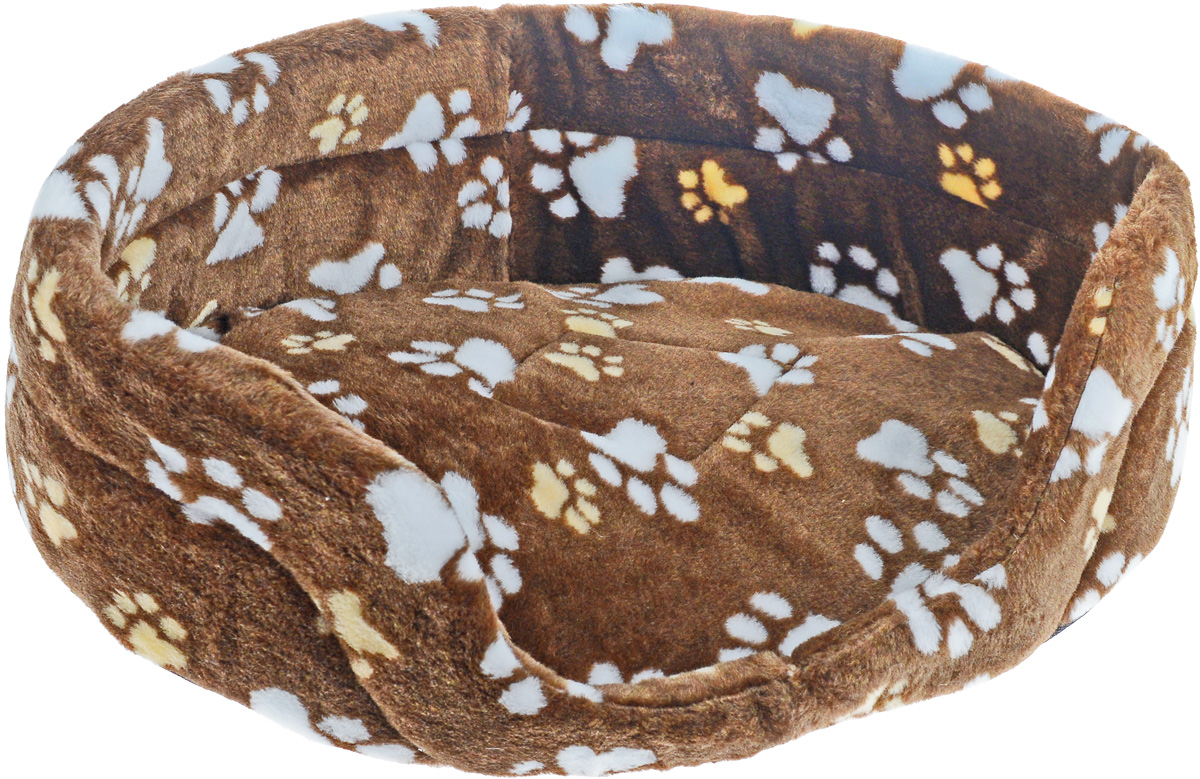 """Лежак для животных """"Elite Valley"""", цвет: бежевый, коричневый, белый, 55 х 40 х 18,5 см. Л-2/4"""