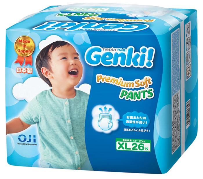 Nepia Genki Подгузники-трусики XL 12-17 кг 26 шт -  Подгузники и пеленки