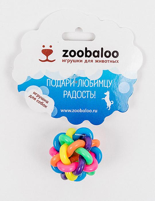 Игрушка для собак Zoobaloo Мяч, диаметр 7 см игрушка для собак zoobaloo гантель с пищалкой длина 13 см