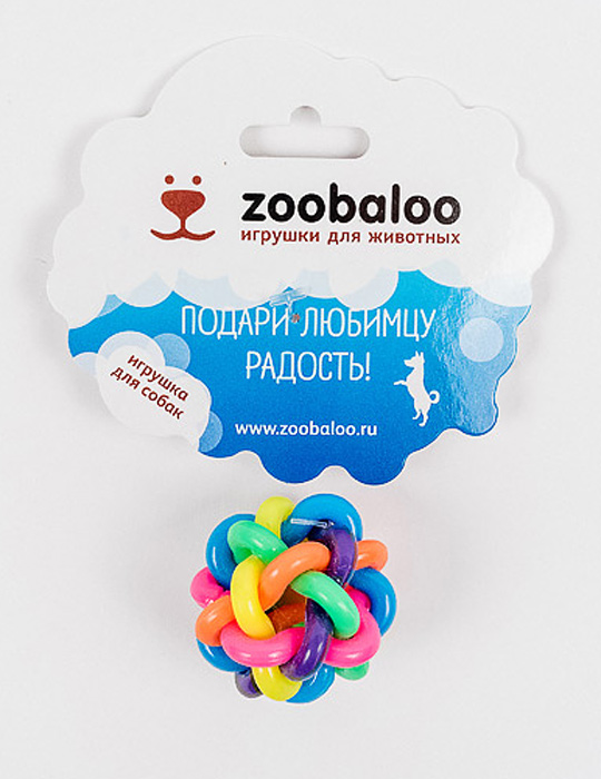 Игрушка для собак Zoobaloo Мяч, диаметр 7 см игрушка для собак zoobaloo мяч 422