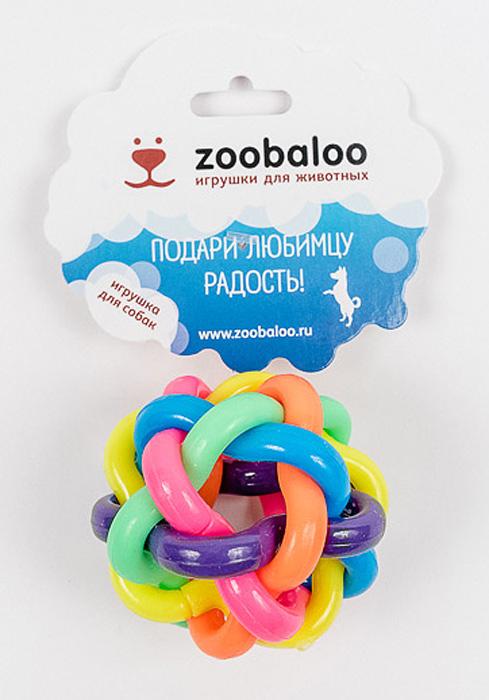 Игрушка для кошек Zoobaloo Мяч из резины витой средний, диаметр 5 см игрушка trixie мяч светящийся цвет желтый диаметр 5 5 см
