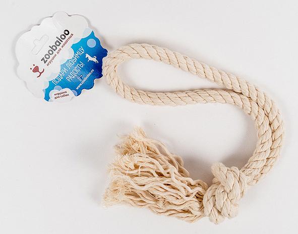 Грейфер для собак Zoobaloo, длина 40 см418Классическая игрушка для собак Zoobaloo изготовлена из хлопка высшего качества с узелками посередине и на концах. Натуральная веревка помогает очистить зубы собаки от налета и зубного камня и поддерживать гигиену полости рта. Ее можно жевать, бросать и приносить. Море радости и азарта обеспечено!