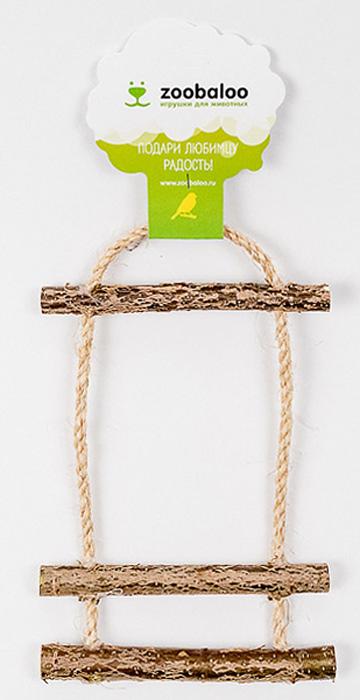 Игрушка для птиц Zoobaloo Лесенка с колоколом zoobaloo игрушка для кошки бамбук марабу короткие шнурки 120см