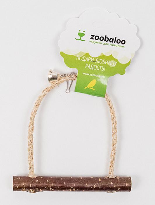 Игрушка для птиц Zoobaloo Качели с колоколом одежда для питомцев