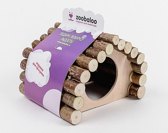 Домик для грызунов Zoobaloo Ромб, 15 х 12 х 16 см домик для грызунов