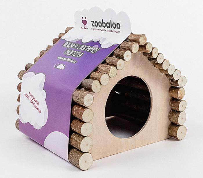 Домик для грызунов Zoobaloo Ромб, 18 х 15 х 15 см домики для животных zoobaloo домик для грызунов