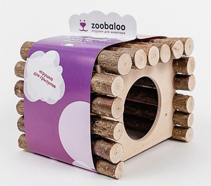 Домик для грызунов Zoobaloo КвадроДом, 15 х 12 х 16 см домики для животных zoobaloo домик для грызунов