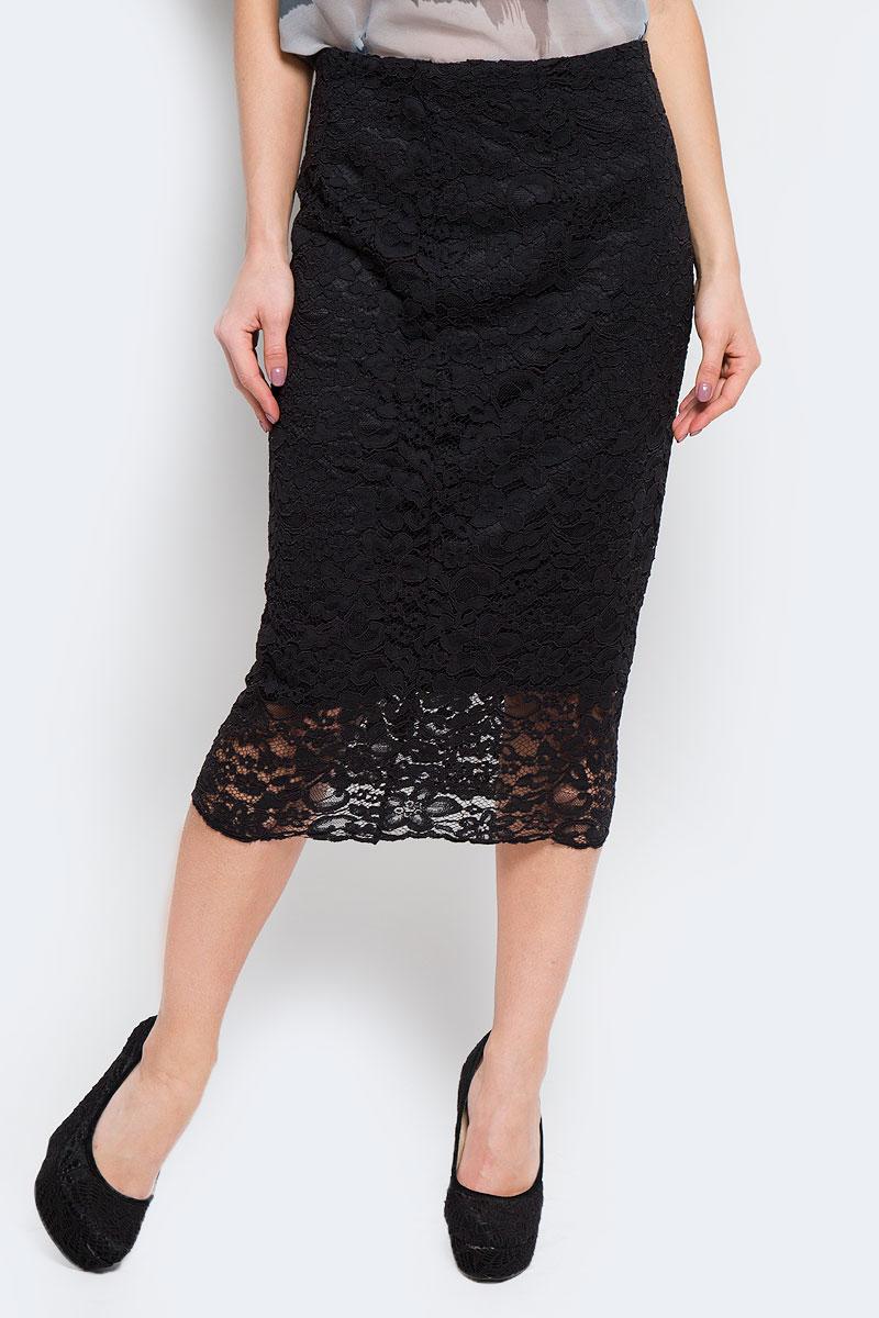 Юбка Selected Femme, цвет: черный. 16051810. Размер 38 (44)