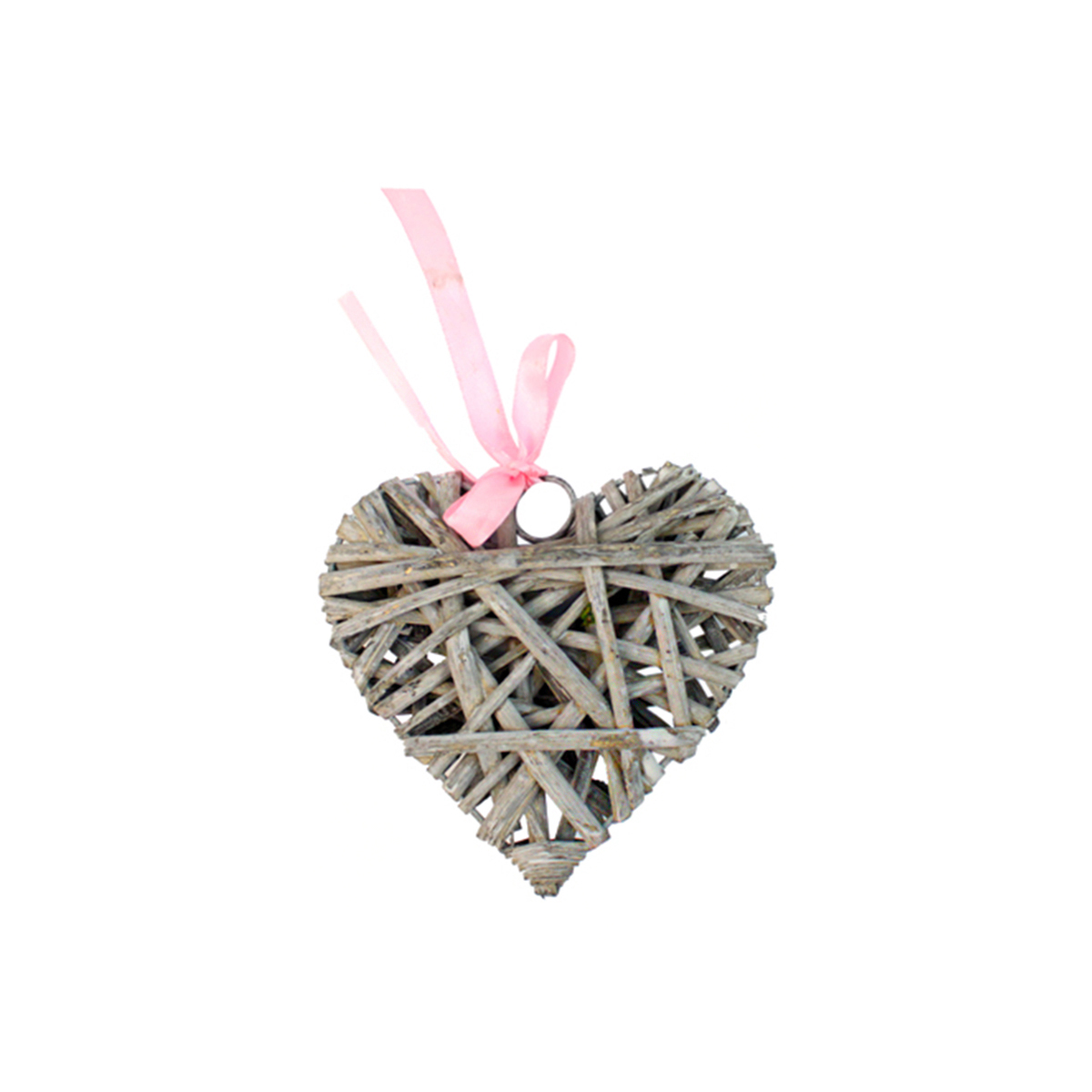 Декоративный элемент Glorex Сердце, цвет: серый, диаметр 10 см декоративный элемент dongjiang art сердце цвет фуксия 10 шт