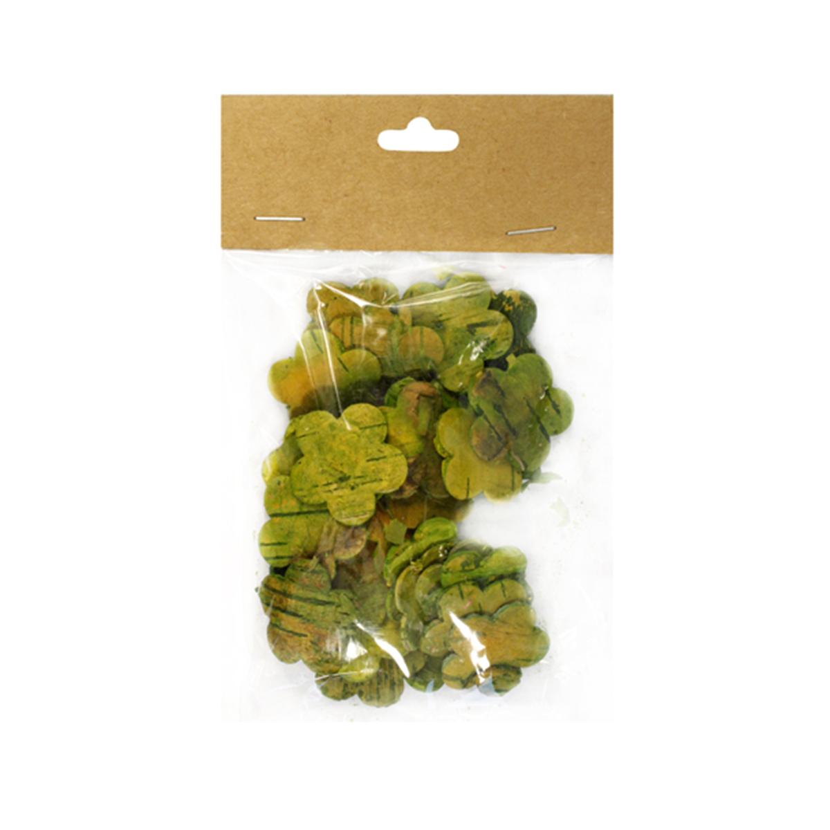 Декоративные элементы YW201, цвет: зеленый, 3 см, 30 шт7709008_зеленый
