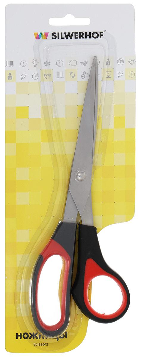 Silwerhof Ножницы офисные Softlinie цвет черный красный 21 см -  Канцелярские ножи и ножницы