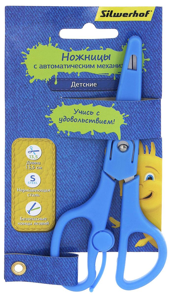 Silwerhof Ножницы детские Джинсовая коллекция цвет голубой 13,5 см453084Детские ножницы Silwerhof Джинсовая коллекция прекрасно подойдут для детского творчества. Лезвия выполнены из высокоуглеродистой легированной стали, что делает процесс работы с ними безопасным для ребенка. Эргономичная форма колец и автоматический механизм на ножницах поможет снять напряжение с кисти ребенка во время работы.Ножницы хорошо справляются с резкой бумаги, картона и станут незаменимым помощником в процессе создания аппликаций и других поделок.