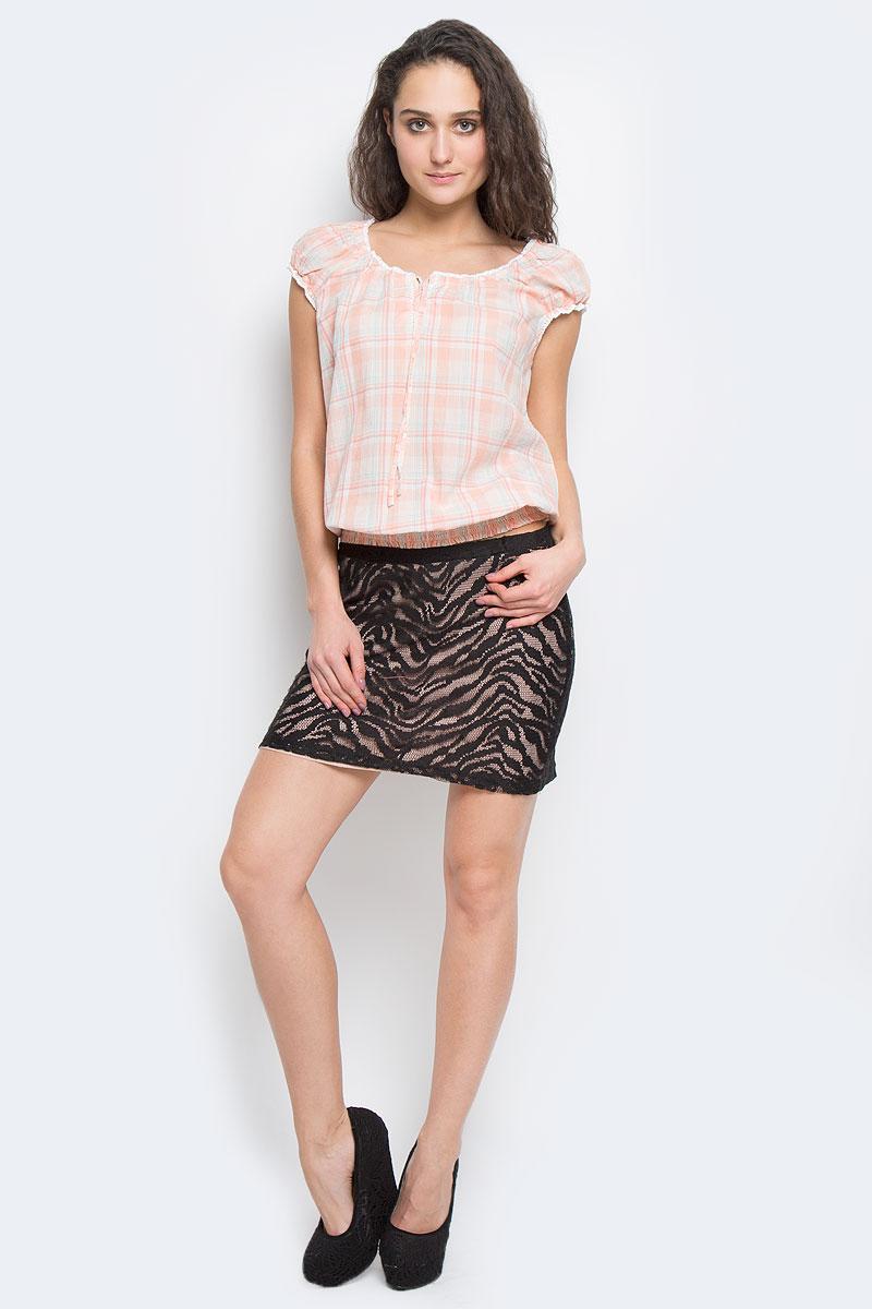 Юбка ICH, цвет: черный. 100179. Размер XS (40/42)100179Очаровательная мини юбка, выполненная из полиэстера, будет отлично смотреться на вас. Модель с поясом на эластичной резинке. Юбка оформлена декоративной перфорацией и имеет подкладку.Эта юбка идеальный вариант для вашего гардероба.