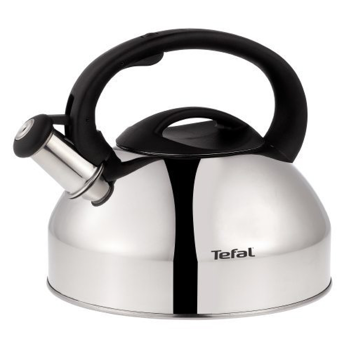 Чайник Tefal, со свистком, 3 л. C7922024C7922024Чайник Tefal изготовлен из шлифованной нержавеющей стали. Фиксированная ручка эргономичной формы изготовлена из бакелита. Носик чайника оснащен откидным свистком, звуковой сигнал которого подскажет, когда закипит вода. Свисток открывается/закрывается с помощью рычага на ручке чайника.Чайник Tefal - качественное исполнение и стильное решение для вашей кухни.Чайник подходит для всех типов плит, кроме индукционных.