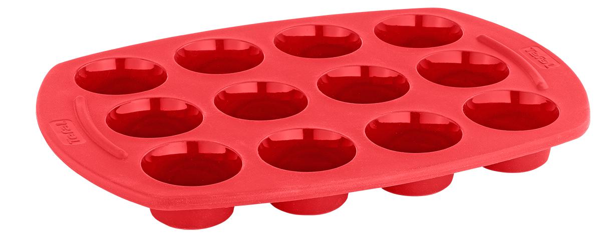 Форма для выпечки Tefal Proflex, 12 ячеек. J4092114J4092114Формы Tefal PROflex сделаны из платинового силикона премиального качества. При изготовлении платинового силикона в качестве катализатора используется платина, что позволяет существенно улучшить его качество.Формы из платинового силикона выдерживают разные температуры: от -40°C до +250°C. Их можно ставить в духовку, холодильник/морозильную камеру и мыть в посудомоечной машине. Силиконовые формы PROflex не нужно смазывать маслом и их очень легко мыть. Извлекать выпечку из форм очень удобно и просто. Каркас из нержавеющей стали предотвращает сгибание, и позволяет удобно перемещать форму.Габариты 30?21 смСерия PROflexДополнительно Можно ставить в духовку, холодильник/морозильную камеру и мыть в посудомоечной машине