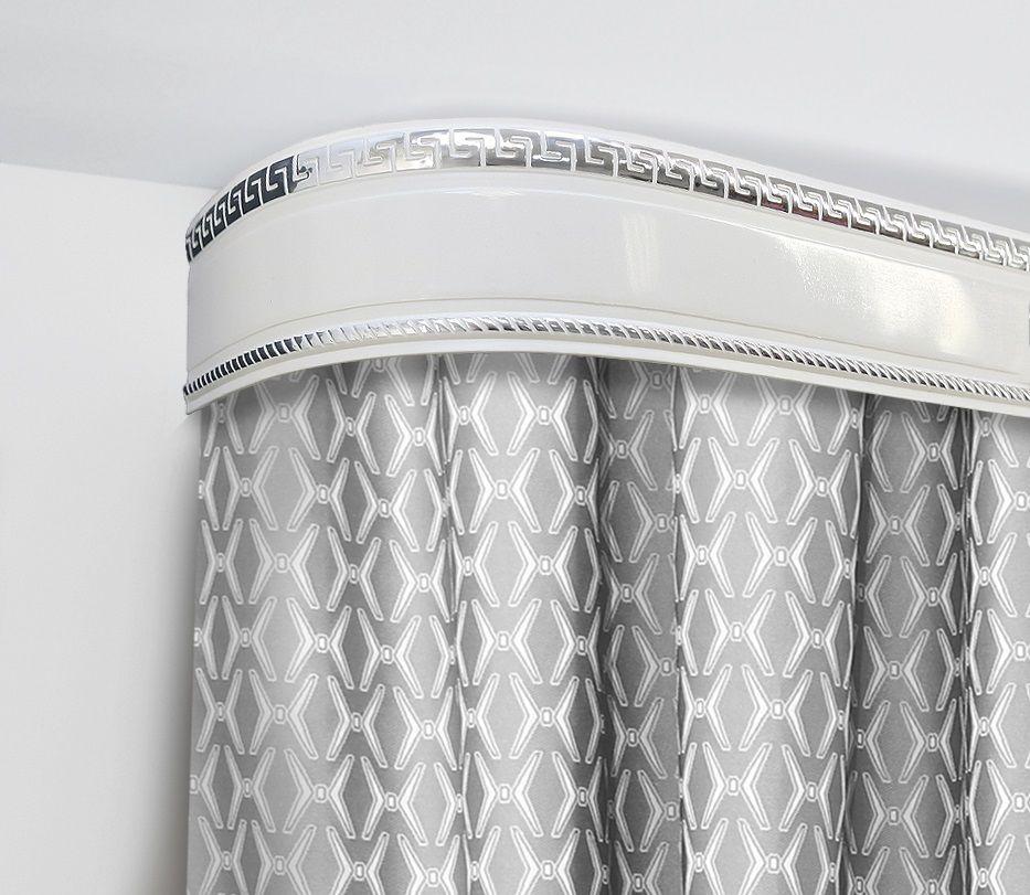 Бленда для шинного карниза Эскар Антик, цвет: серебро, ширина 7 см, длина 250 см29606250Бленда – аксессуар, который дополняет карниз и делает его более эстетичным. За лентой скрываются крючки, кольца и другие элементы крепежа. Изделие изготавливается из пластика, устойчивого к механическим нагрузкам и соответствующего всем экологическим нормам. Оно хорошо гнется, что позволяет сделать карниз с закругленными углами. Такое оформление придает интерьеру благородства и богатства.