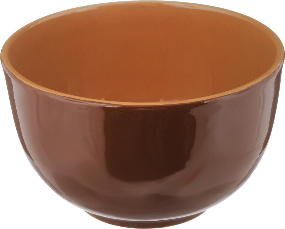 Салатник Борисовская керамика Радуга, цвет: коричневый, 2 лРАД00000524_ коричневыйСалатник Борисовская керамика Радуга выполнен из высококачественной глазурованной керамики. Этот большой и вместительный салатник необходим на любом застолье, он идеально подходит для сервировки салатов и закусок. Изделие термостойкое, поэтому его можно использовать для запекания в духовке и микроволновой печи, с последующим хранением в нем приготовленной пищи. Такой яркий салатник отлично дополнит сервировку стола и подчеркнет ваш изысканный вкус.Диаметр (по верхнему краю): 20 см.Высота стенки: 12 см.