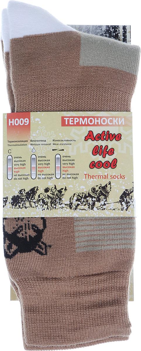 Термоноски мужские Haski, цвет: коричневый, серо-бежевый, черный, белый. H009. Размер 41/43H009Мужские термоноски Haski предназначены для ежедневного использования в холодную погоду. Модель выполнена из акрила, полиамида, мериносовой шерсти и эластана. Содержащиеся в составе волокна шерсти овец мериносов позволяют максимально сохранить тепло и обеспечивают приятную легкость и дополнительный комфорт. Длина носка подобрана оптимально для наилучшего сохранения тепла. Наличие синтетических нитей заметно повышает износостойкость модели.