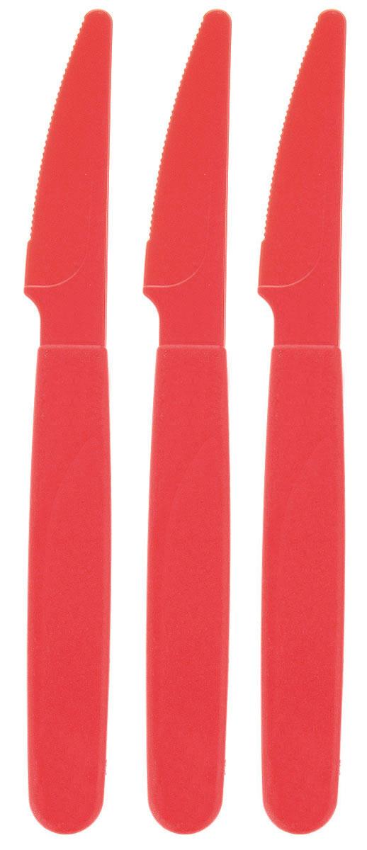 """Набор столовых ножей """"Gotoff"""" выполнен из полипропилена и имеет зубчатое лезвие. Изделия отлично подойдут для холодных и горячих пищевых продуктов. Такие ножи будут незаменимы при поездках на природу, пикниках и других мероприятиях. Нож также можно использовать при сервировке детского стола. Общая длина ножа: 19 см. Длина лезвия: 6,5 см."""