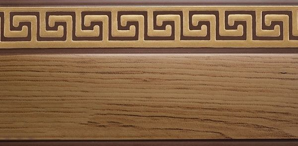 Багет Эскар Кедр Греция, цвет: темная подложка, золотистый, 5 см х 290 см290343290Багет для карниза крепится к карнизным шинам. Благодаря багетному карнизу, от взора скрывается верхняя часть штор (шторная лента, крючки), тем самым придавая окну и интерьеру в целом изысканный вид и шарм.Вы можете выбрать багетные карнизы для штор среди широкого ассортимента багета Российского производства. У нас множество идей использования багета для Вашего интерьера, которые мы готовы воплотить!Грамотно подобранное оформление – ключ к превосходному результату!!!