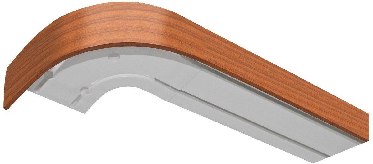 Бленда для шинного карниза Эскар, цвет: вишня, ширина 5 см, длина 120 см элементы крепежа