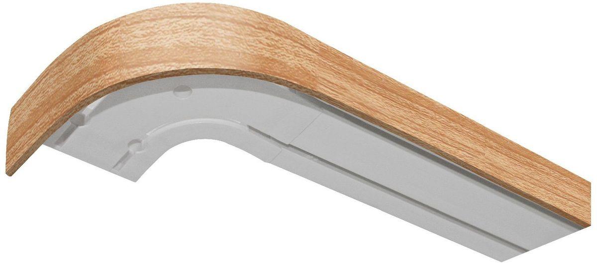 Бленда для шинного карниза Эскар, цвет: дуб, ширина 5 см, длина 150 см29340150Бленда – аксессуар, который дополняет карниз и делает его более эстетичным. За лентой скрываются крючки, кольца и другие элементы крепежа. Изделие изготавливается из пластика, устойчивого к механическим нагрузкам и соответствующего всем экологическим нормам. Оно хорошо гнется, что позволяет сделать карниз с закругленными углами. Такое оформление придает интерьеру благородства и богатства.