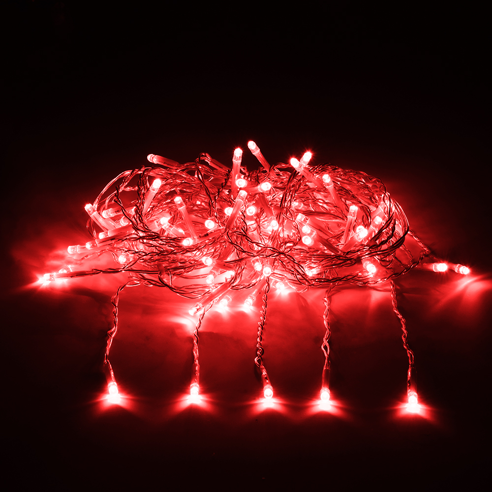 Гирлянда электрическая Vegas Занавес, с контроллером, 156 ламп, длина 1,5 м, свет: красный. 55080 гирлянда конструктор электрическая vegas занавес 192 лампы 6 нитей свет желтый 1 х 4 м