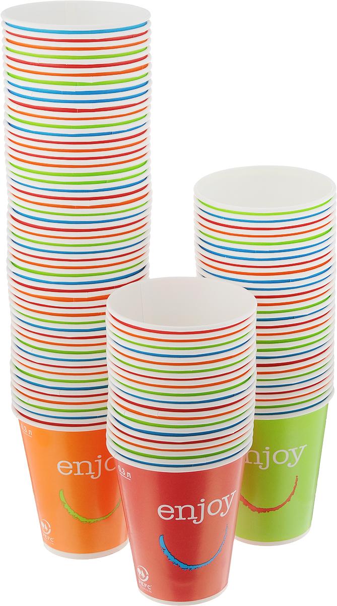 Набор одноразовых стаканов Huhtamaki Enjoy, 300 мл, 100 штПОС31508Одноразовые стаканы Huhtamaki Enjoy, изготовленные из плотной бумаги, предназначены для подачи горячих напитков. Вы можете взять их с собой на природу, в парк, на пикник и наслаждаться вкусными напитками. Несмотря на то, что стаканы бумажные, они очень прочные и не промокают. Диаметр (по верхнему краю): 8,5 см. Диаметр дна: 5,5 см.Высота: 10 см.
