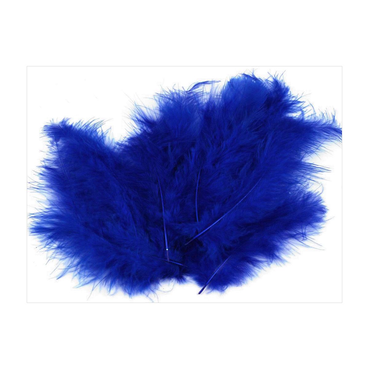 Zakazat.ru: Перо декоративное Glorex, марабу, цвет: синий, 15 шт