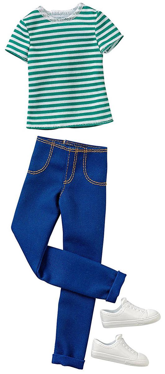 Фото - Barbie Одежда для Кена Футболка и брюки цвет зеленый синий набор школьниика barbie