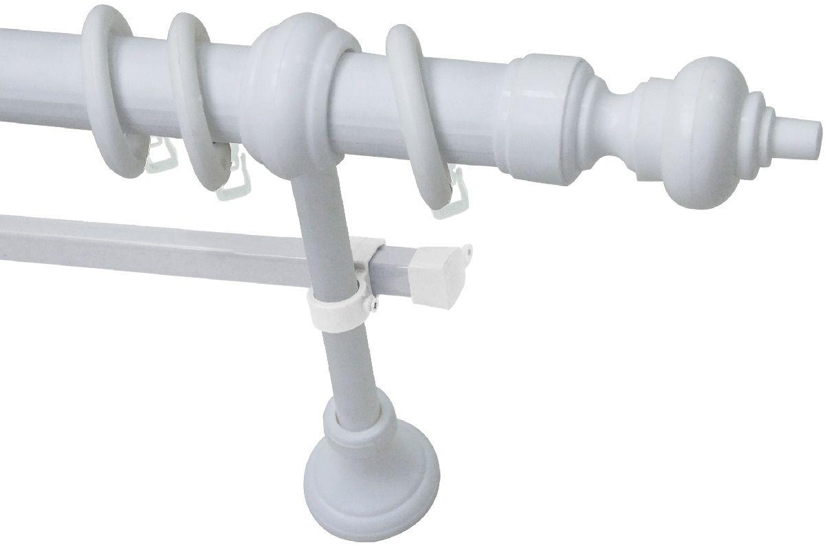 Карниз Эскар Эконом, металл/пластик, с U-шиной, составной, цвет: Белый, длина 280 см