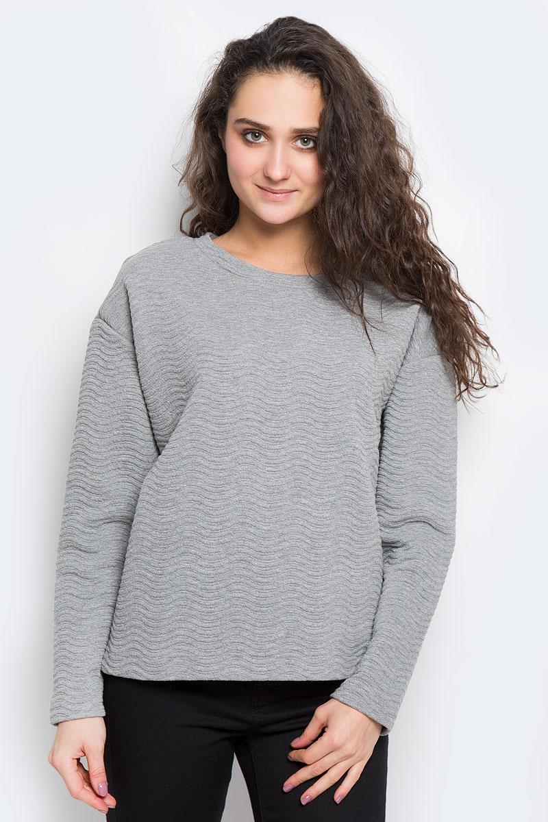 Купить Свитшот женский Selected Femme, цвет: серый. 16053363. Размер M (44)
