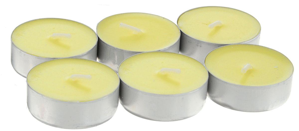 Набор свечей Paterra Ваниль, ароматизированные, диаметр 3,9 см, 6 шт401-455_ванильНабор Paterra Ваниль состоит из 6 круглых свечей с ароматом ванили, изготовленных из парафина.Ваниль - сладкий и согревающий аромат. Помогает снять напряжение, стимулирует деятельность, восстанавливает аппетит, придает жизненную энергию. Первичный парафин в составе свечей обеспечивает качество горения (выгорает полностью). При горении не трещат, не появляются искры. Время горения 4 часа. Такой набор украсит интерьер вашего дома или офиса и наполнит его атмосферу теплом и уютом. Состав: парафин, х/б нить, алюминий, краситель, ароматизатор.