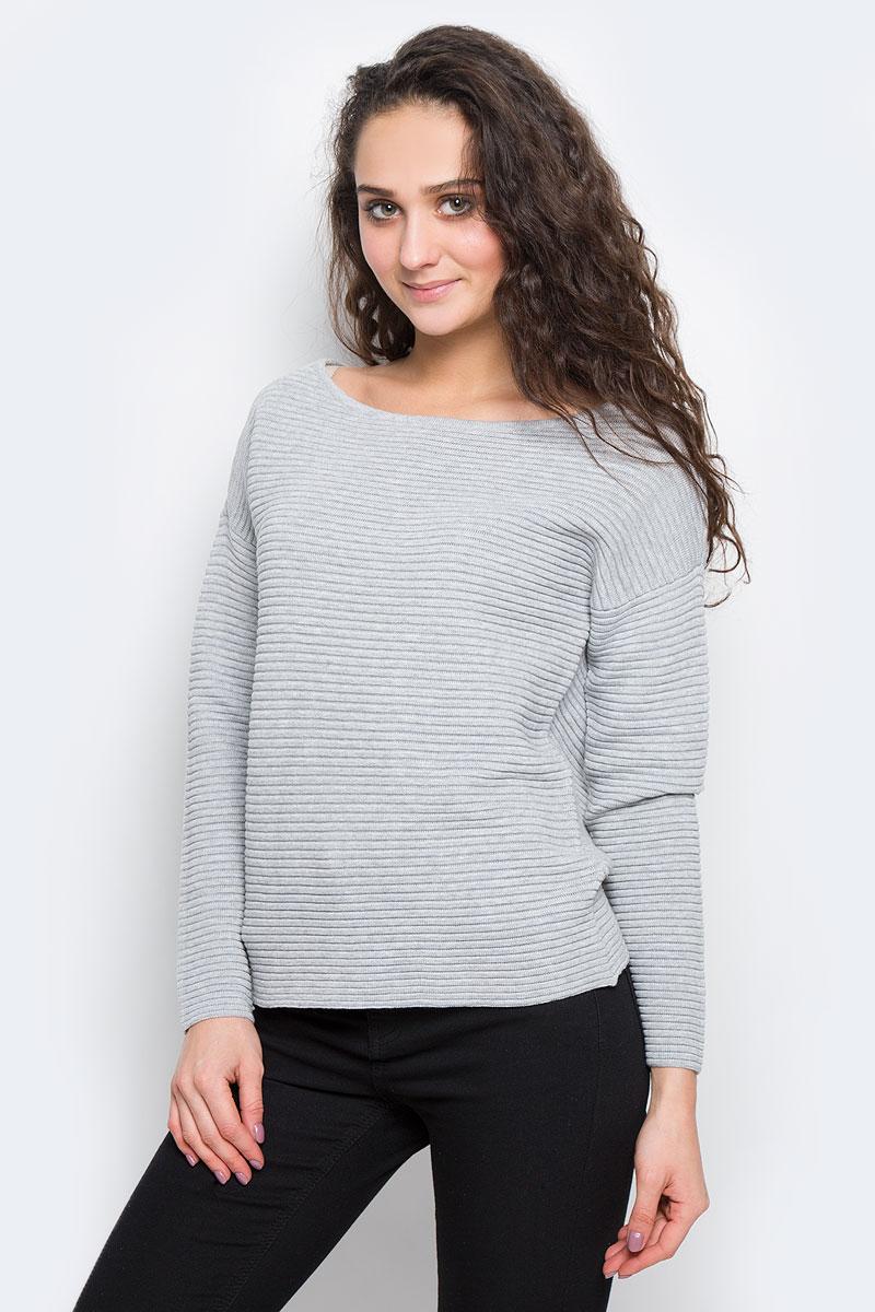 Джемпер женский Selected Femme, цвет: серый. 16055336. Размер XL (48)