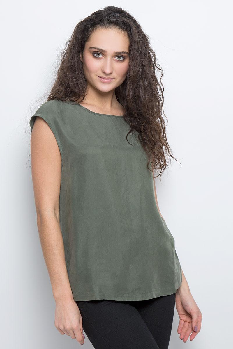 Блузка женская Selected Femme, цвет: темно-зеленый. 16051746. Размер 36 (42) selected selected sld16050603