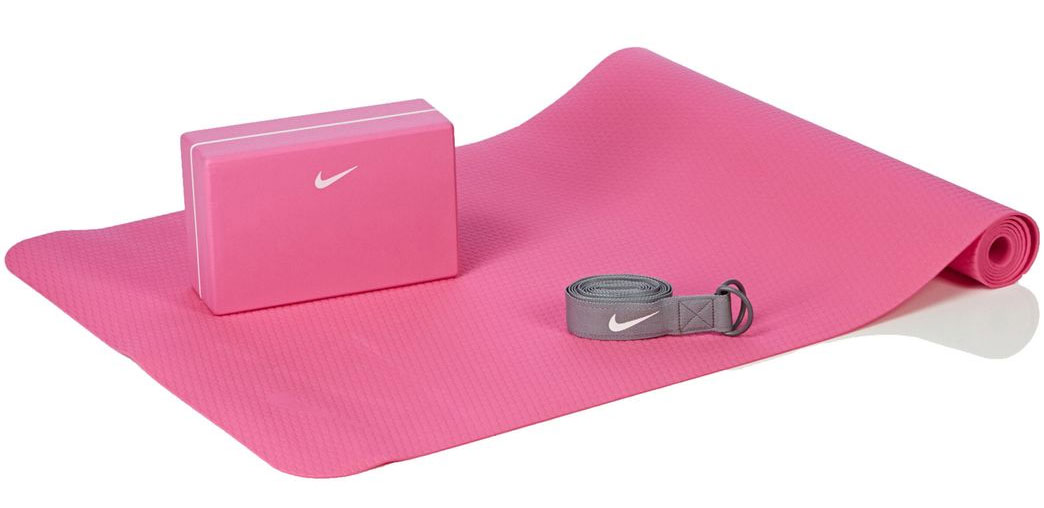 Набор для йоги Nike Essential Yoga Kit, цвет: розовый, серый, 3 предмета набор для йоги nike nike ni464dujsa58