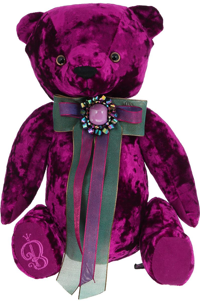 BernArt Мягкая игрушка Медведь цвет пурпурный 28 см мягкая игрушка белый медведь 27 см