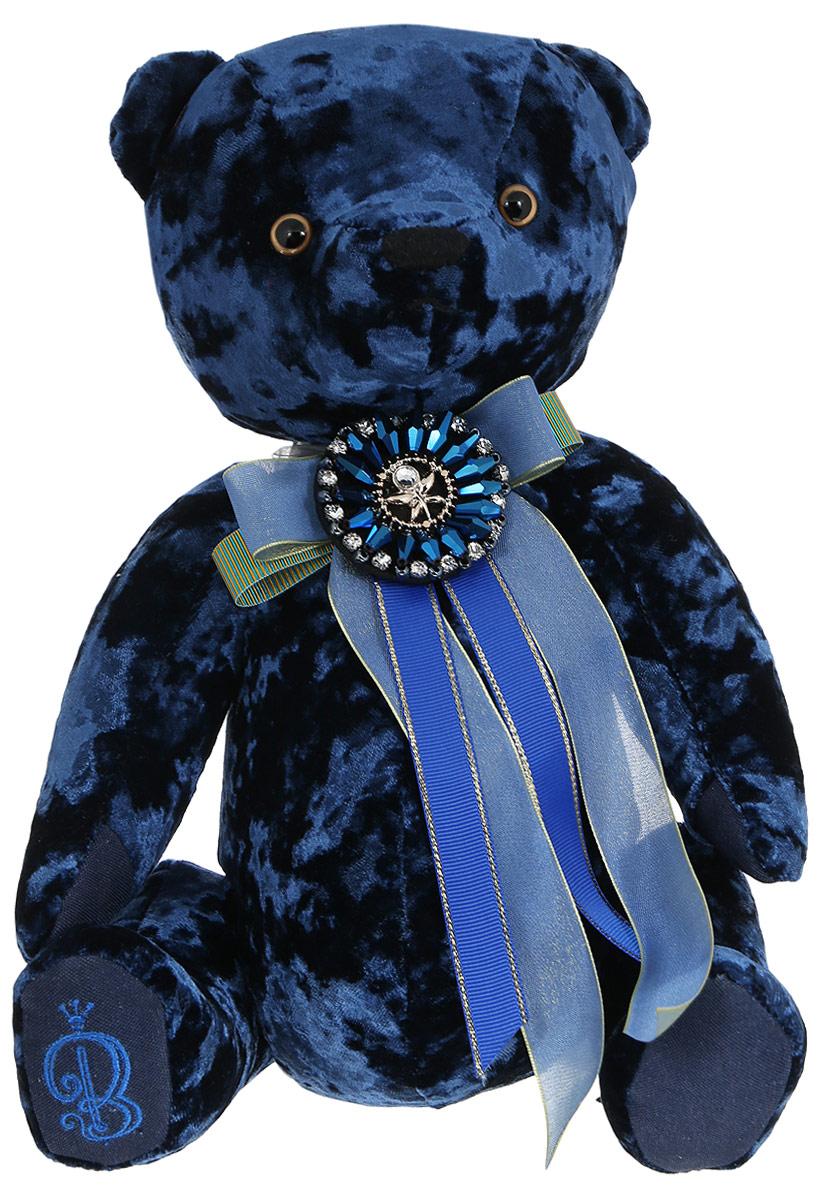 BernArt Мягкая игрушка Медведь цвет сапфировый 28 см мягкая игрушка белый медведь 27 см