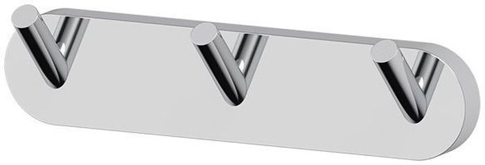 """Планка для ванной Artwelle """"Harmonie"""" выполнена из высококачественной латуни и крепится к стене при помощи шурупов (входят в комплект).  Хромовое покрытие придает изделию яркий металлический  блеск и эстетичный внешний вид. Планка с тремя крючками имеет классический дизайн, аккуратна, компактна и привлекательна. Аксессуар позволяет размещать максимальное количество предметов при минимальном количестве необходимых для крепления отверстий в  стене. Имеет усиленное крепление, которое обеспечивает дополнительную прочность конструкции. Торговая марка Artwelle принадлежит компании Santech Allianz Gmbh. Универсальный дизайн аксессуаров позволяет дополнить  практически любой интерьер, а широкий ассортимент предоставляет свободу выбора. Надежность конструкции, профессиональное крепление и  прочность покрытия позволяют использовать изделия не только в домашних условиях, но также и в общественных местах, включая отели. В  производстве коллекций используются материалы высокого качества, что обеспечивает долговечность изделий."""