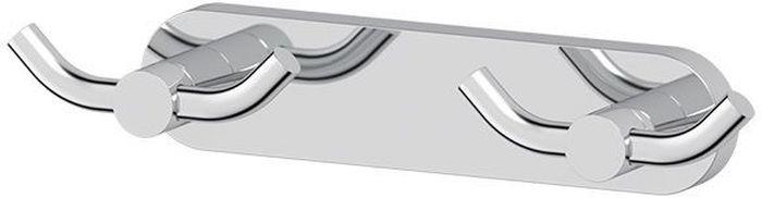 """Планка для ванной Artwelle """"Harmonie"""" выполнена из высококачественной латуни и крепится к стене при помощи шурупов (входят в комплект).  Хромовое покрытие придает изделию яркий металлический  блеск и эстетичный внешний вид. Планка с двумя двойными крючками имеет классический дизайн, аккуратна, компактна и привлекательна. Аксессуар позволяет размещать максимальное количество предметов при минимальном количестве необходимых для крепления отверстий в  стене. Имеет усиленное крепление, которое обеспечивает дополнительную прочность конструкции. Торговая марка Artwelle принадлежит компании Santech Allianz Gmbh. Универсальный дизайн аксессуаров позволяет дополнить  практически любой интерьер, а широкий ассортимент предоставляет свободу выбора. Надежность конструкции, профессиональное крепление и  прочность покрытия позволяют использовать изделия не только в домашних условиях, но также и в общественных местах, включая отели. В  производстве коллекций используются материалы высокого качества, что обеспечивает долговечность изделий."""