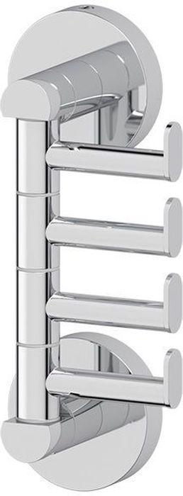 Крючок для ванной Artwelle Harmonie, поворотный, четверной. HAR 011HAR 011Оригинальный, необычный и стильный поворотный крючок для ванной Artwelle Harmonie, выполненный их высококачественно хромированной латуни, имеет четыре элемента длиной 5 см, перемещающихся в горизонтальной плоскости.Аксессуар компактен, при этом очень прочен и позволяет удобно и компактно размещать в ванной комнате полотенца, халаты и другие гигиенические предметы, обеспечивая наличие достаточного расстояния между ними.Торговая марка Artwelle принадлежит компании Santech Allianz Gmbh. Универсальный дизайн аксессуаров позволяет дополнить практически любой интерьер, а широкий ассортимент предоставляет свободу выбора. Надежность конструкции, профессиональное крепление и прочность покрытия позволяют использовать изделия не только в домашних условиях, но также и в общественных местах, включая отели. В производстве коллекций используются материалы высокого качества, что обеспечивает долговечность изделий.