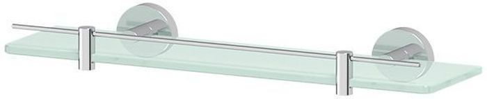 """Полка для ванной Artwelle """"Harmonie"""" выполнена из высококачественной латуни  и стекла и крепится к стене при помощи шурупов (входят в комплект). Матированная химическим способом поверхность стекла имеет привлекательный внешний вид. На матированном стекле меньше видны подтеки, что облегчает уход за ним.Торговая марка Artwelle принадлежит компании Santech Allianz Gmbh. Универсальный дизайн аксессуаров позволяет дополнить практически любой интерьер, а широкий ассортимент предоставляет свободу выбора. Надежность конструкции, профессиональное крепление и прочность покрытия позволяют использовать изделия не только в домашних условиях, но также и в общественных местах, включая отели. В производстве коллекций используются материалы высокого качества, что обеспечивает долговечность изделий."""