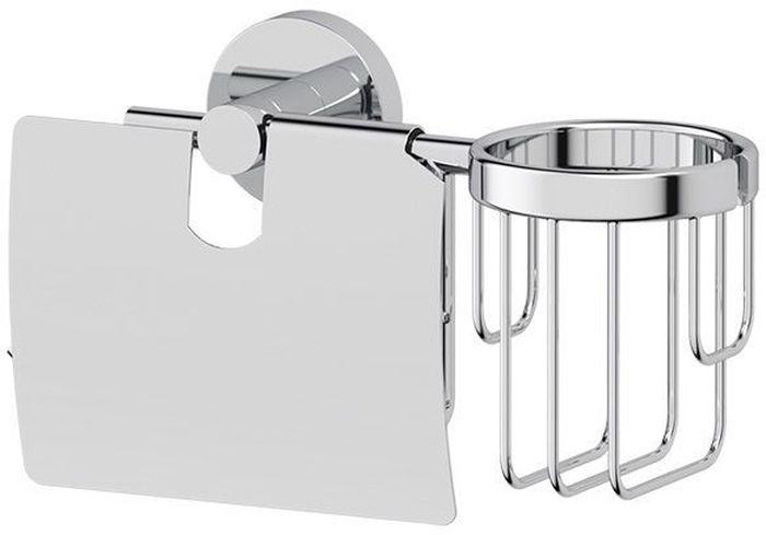 """Комбинированный держатель Artwelle """"Harmonie"""" для освежителя и туалетной бумаги с крышкой выполнен из  высококачественной хромированной латуни. Комбинирование позволяет сэкономить средства на приобретение двух аксессуаров, оптимизировать полезное пространство сантехнического помещения и минимизировать сверление отверстий под крепеж. Торговая марка Artwelle принадлежит компании Santech Allianz Gmbh. Универсальный дизайн аксессуаров позволяет дополнить практически любой интерьер, а широкий ассортимент предоставляет свободу выбора. Надежность конструкции, профессиональное крепление и прочность покрытия позволяют использовать изделия не только в домашних условиях, но также и в общественных местах, включая отели. В производстве коллекций используются материалы высокого качества, что обеспечивает долговечность изделий."""