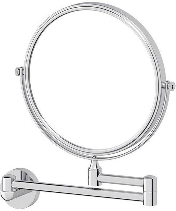 """Настенное косметическое зеркало Artwelle """"Harmonie"""" идеально подходит для нанесения макияжа и совершения различных косметических процедур. Оно имеет две зеркальные поверхности, одна из которых с увеличением.Универсальный дизайн аксессуара позволяет дополнить практически любой интерьер. Надежность конструкции, профессиональное крепление и прочность покрытия позволяют использовать изделие не только в домашних условиях, но также и в общественных местах, включая отели. В производстве используются материалы высокого качества, что обеспечивает долговечность изделия.Диаметр зеркала: 20 см.  Увеличение: х2,5"""