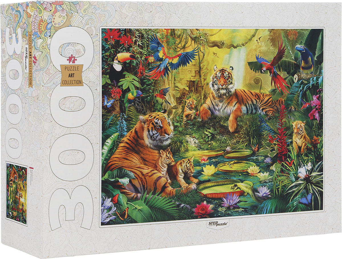 Step Puzzle Пазл В джунглях