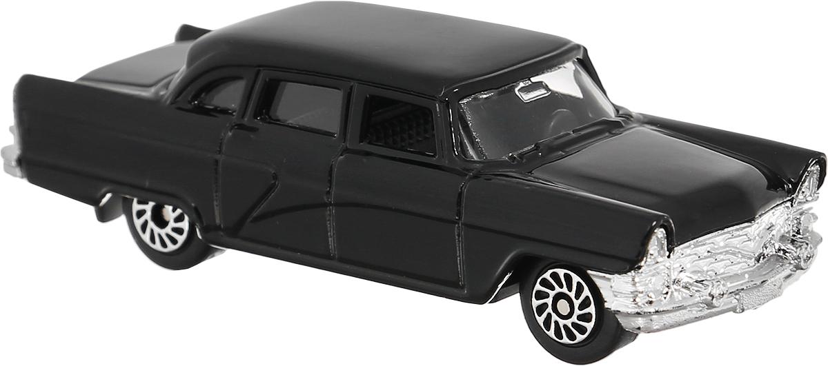 ТехноПарк Машинка ГАЗ-13 Чайка цвет черный технопарк машинка газ 13 чайка цвет черный