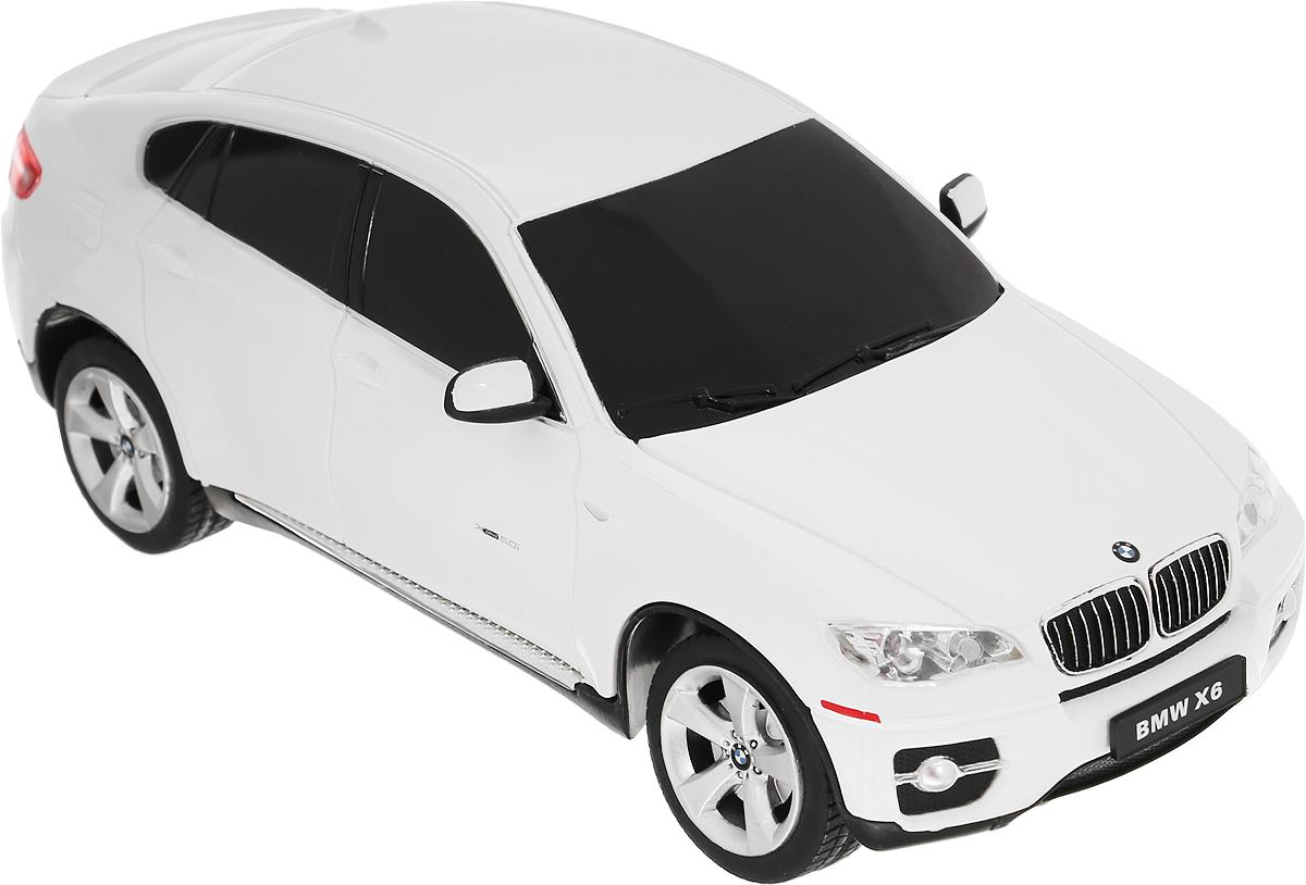 Rastar Радиоуправляемая модель BMW X6 цвет белый масштаб 1:24 машина bmw x6 1 24 р у со светом rastar в ассортименте